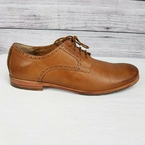 Rockport Distressed Leather Oxfords Shoes 13 Brown